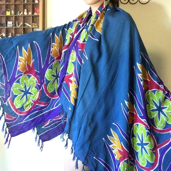 Vintage Other - Big Ol' Hawaiian Floral Sarong